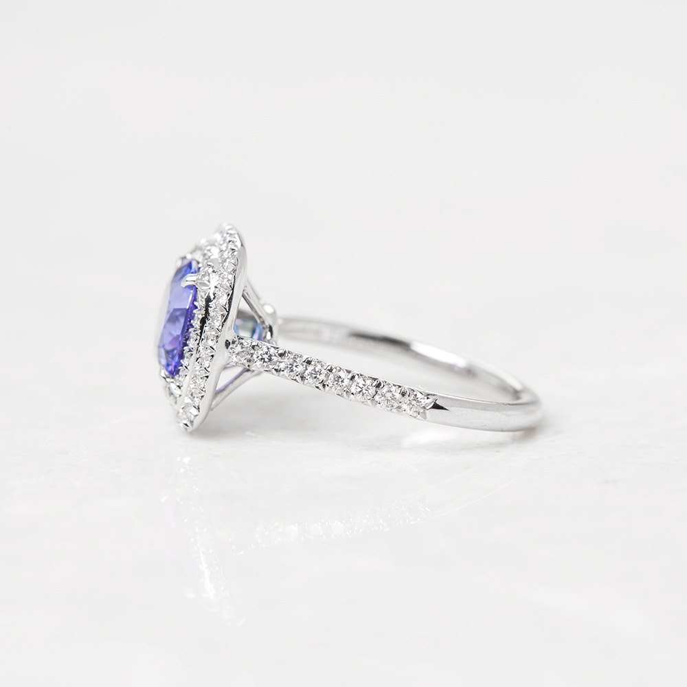 Tiffany & Co. Platinum Tanzanite & Diamond Soleste Ring
