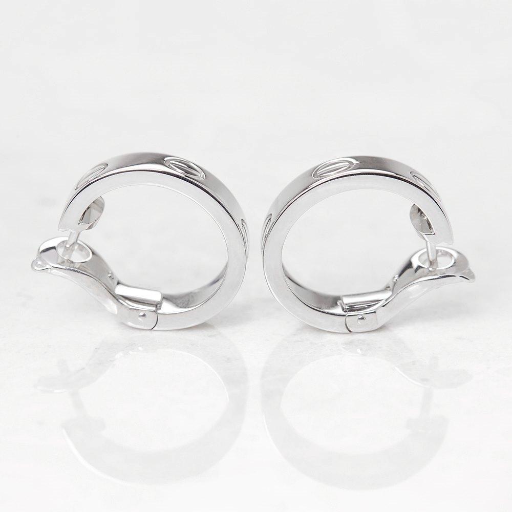 Cartier 18k White Gold Love Earrings
