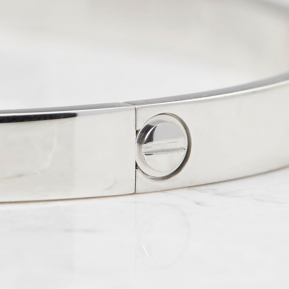 Cartier 18k White Gold Love Bangle Size 21