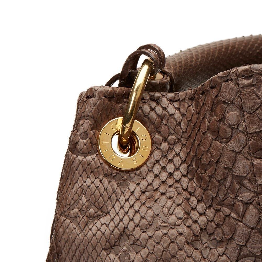 Louis Vuitton Artsy Handbag Monogram Embossed Python Mm NlvCfI5E1