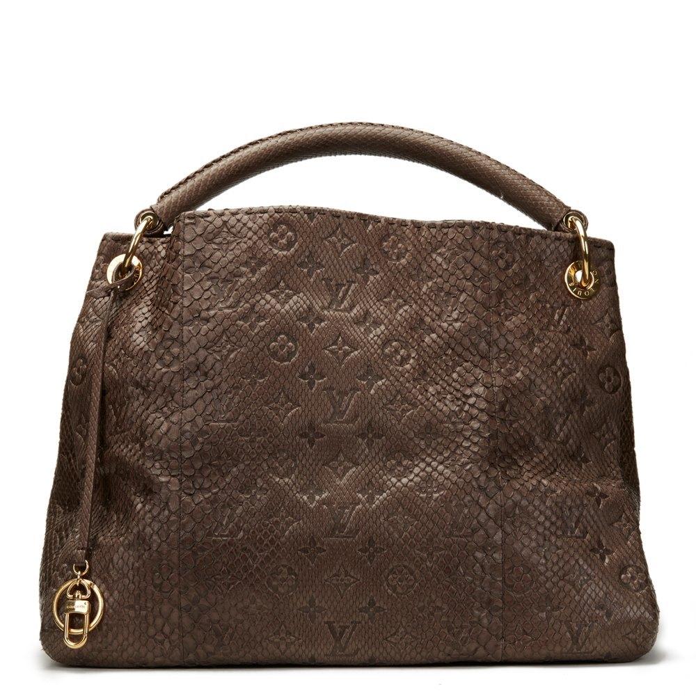 97b7e3291a2a Louis Vuitton Gris Monogram Embossed Python Leather Artsy MM