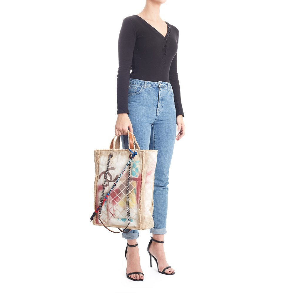 2425b92b7877ec Chanel Graffiti Tote 2014 HB1142 | Second Hand Handbags | Xupes