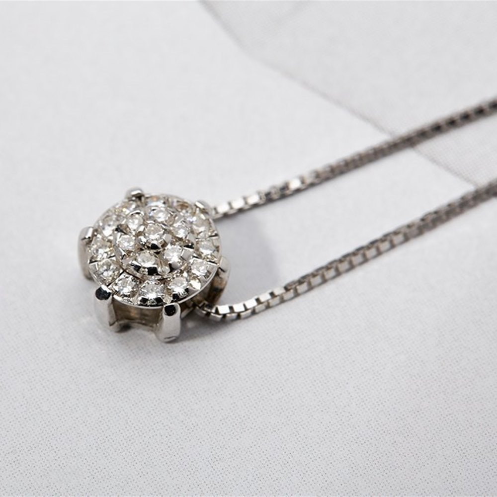 Chimento Margherita 18K White Gold Diamond Pendant Necklace