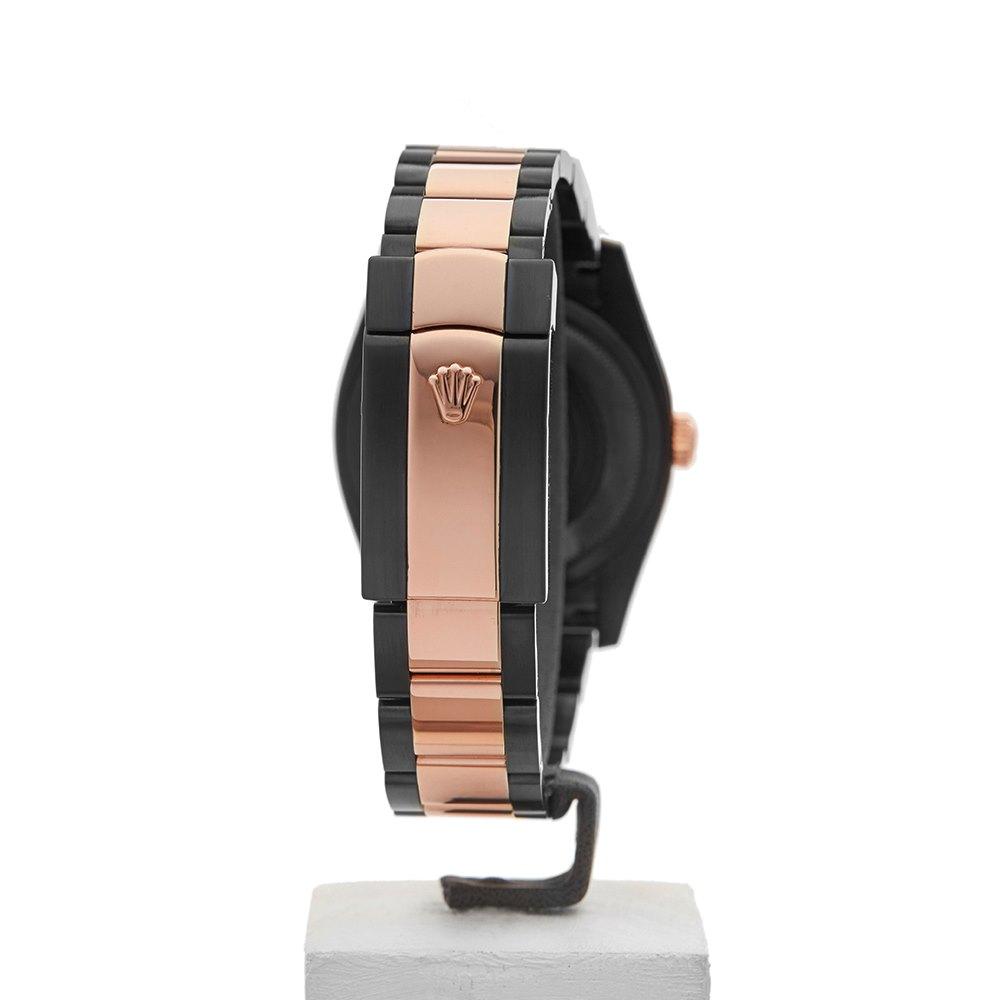 Rolex DateJust 36 Hercules Custom Dlc Stainless Steel & Rose Gold 116201