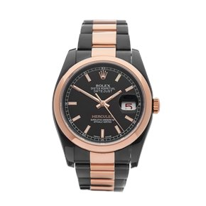 Rolex  36 Dlc Stainless Steel & Rose Gold