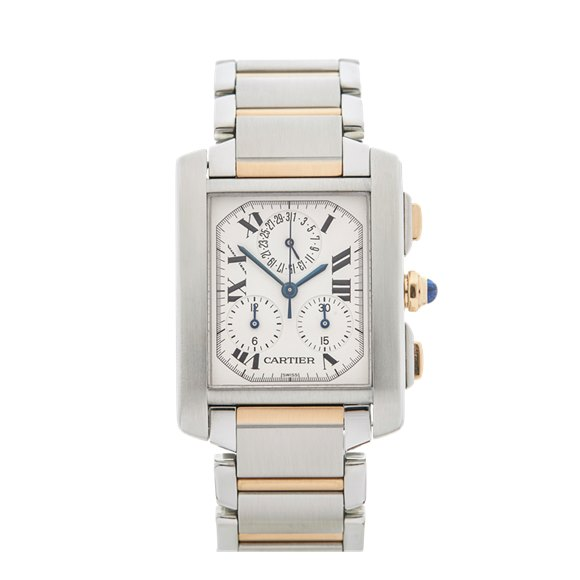 Cartier Tank Francaise Chronoreflex Stainless Steel & Yellow Gold - 2303 or W51004Q4