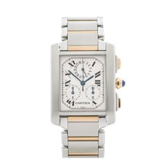 Cartier Tank Francaise Chronoreflex 28mm Stainless Steel & 18K Yellow Gold - 2303 or W51004Q4