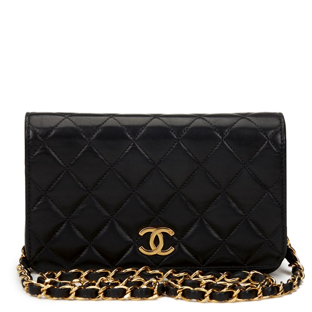 25f853cef8a5 Chanel Black Quilted Lambskin Vintage Mini Flap Bag