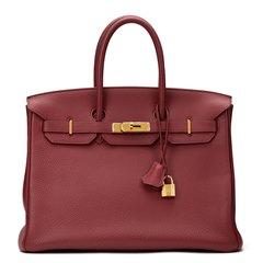 Hermès Rubis Clemence Leather Birkin 35cm