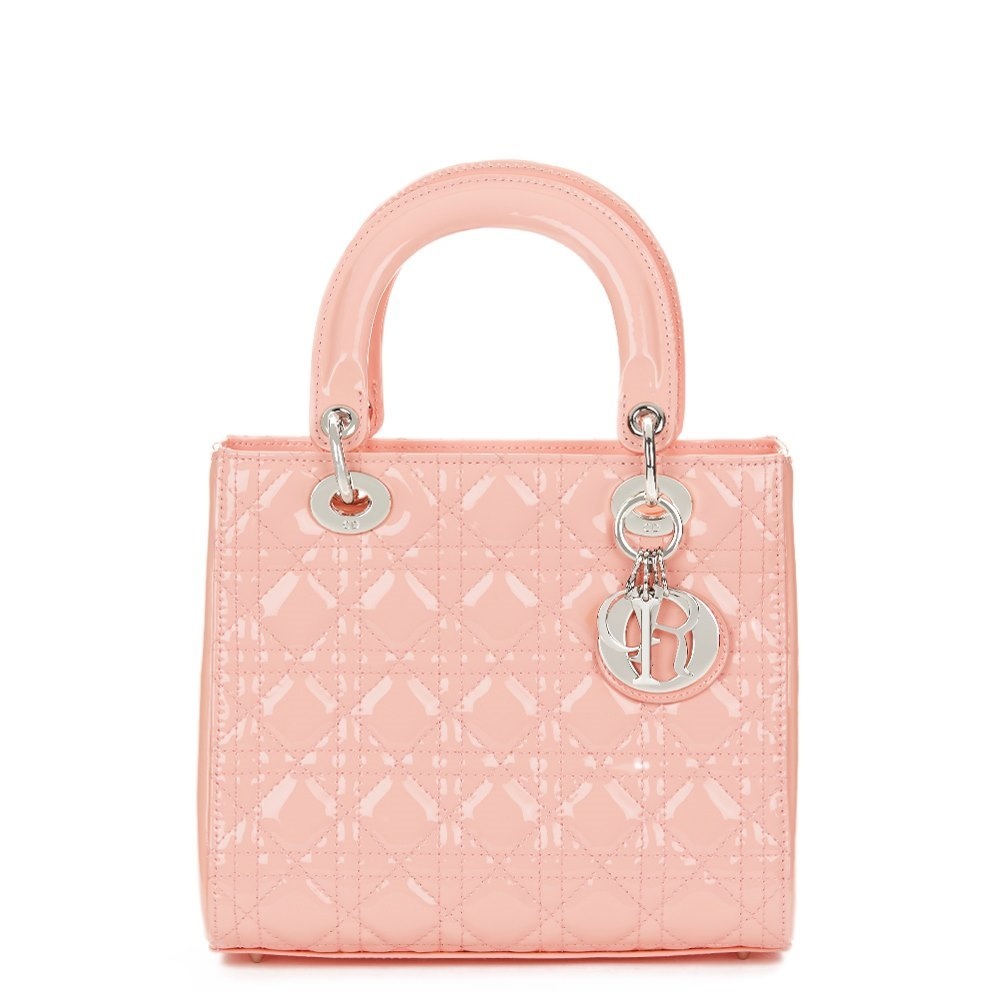 Christian Dior Baby Pink Quilted Patent Leather Medium Lady Dior 6c1beaaf053d7