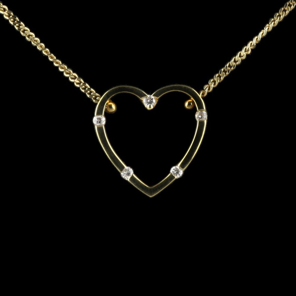 Roberto Coin Classica Parisienne 18K Yellow Gold Mini Heart Pnt 05