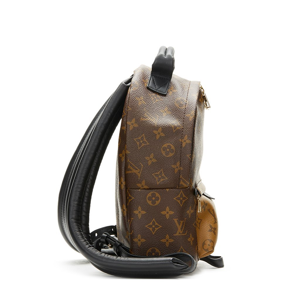 Louis Vuitton Brown Monogram Reverse Coated Canvas Palm Springs Backpack PM 38aaeb9c64