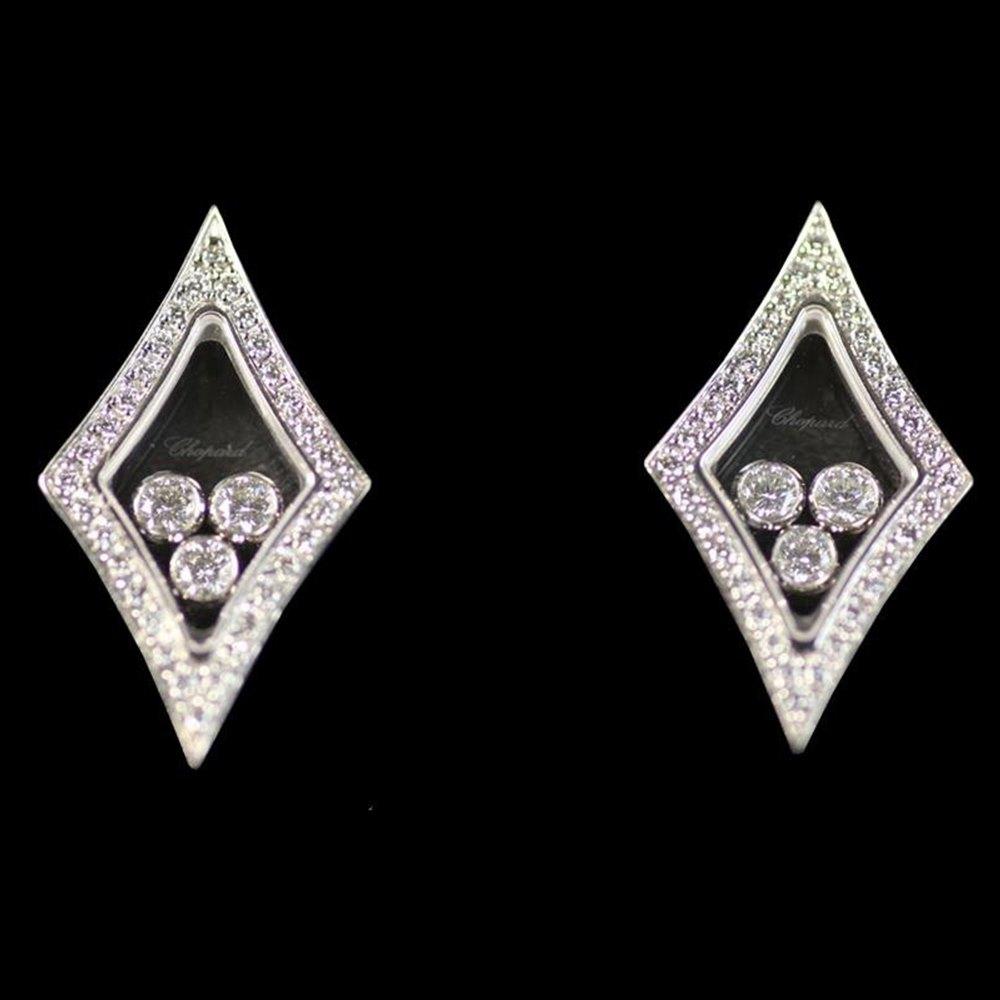 Chopard 18K White Gold Happy Diamonds Kite Earrings