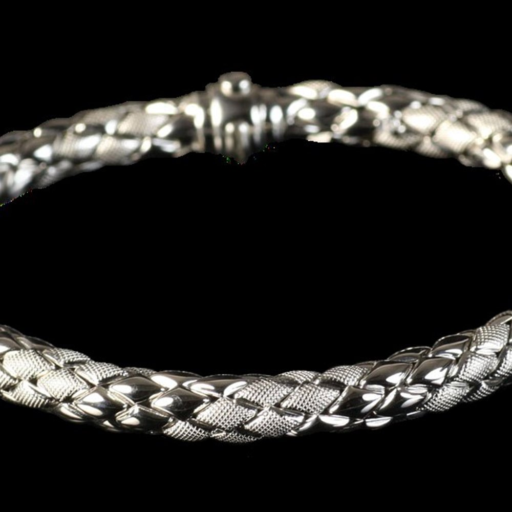 Chimento 18K White Gold Stretch Rope Bracelet