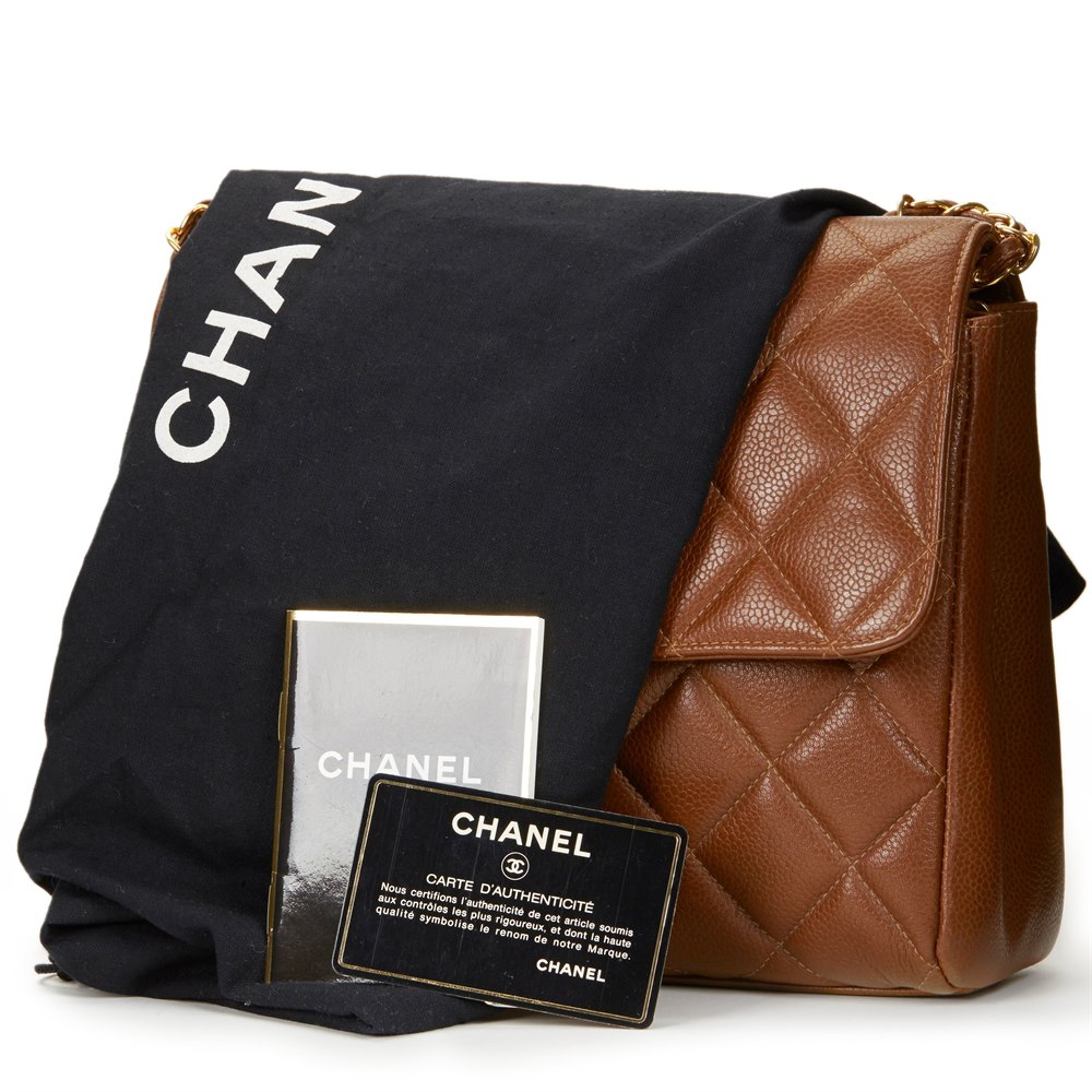 172a11345d7c89 Chanel Chocolate Brown Quilted Caviar Leather Vintage Single Flap Bag