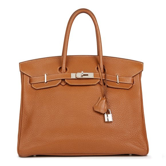 Hermès Gold Clemence Leather Birkin 35cm
