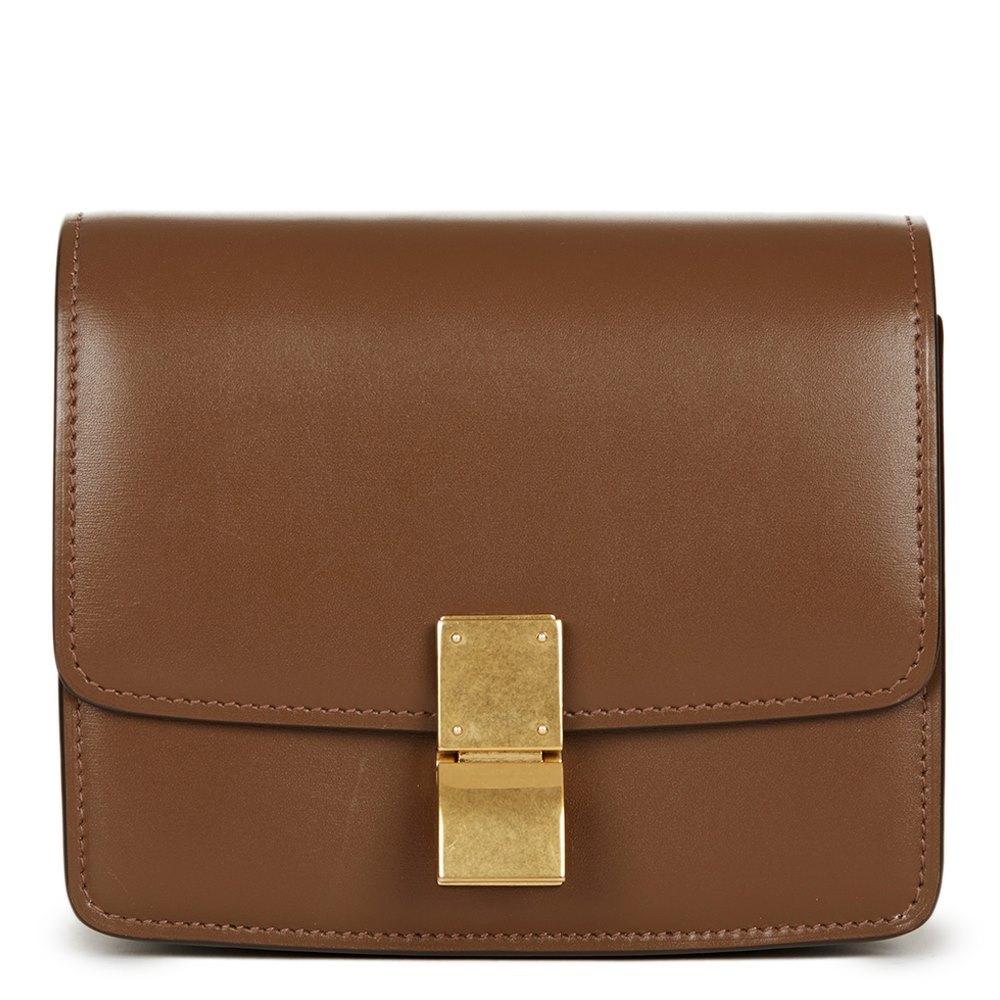 02c20f16ab Céline Brown Smooth Calfskin Small Box Bag