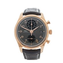 IWC Portuguese Chronograph 42mm 18K Rose Gold - IW390405