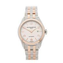 Baume & Mercier CLIFTON 30mm Stainless Steel & 18k Rose Gold - M0A10152