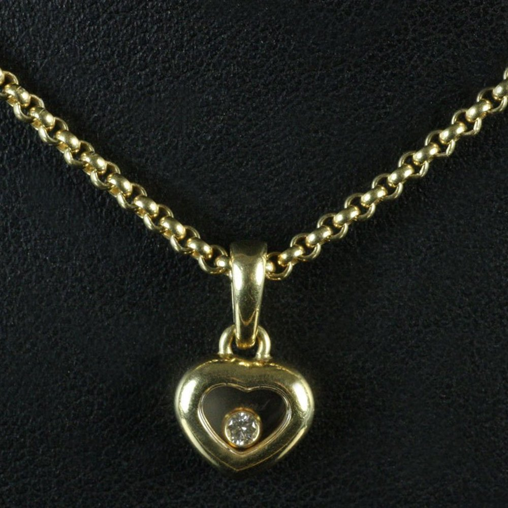 Chopard 18K Gold Happy Diamonds Heart Shaped Necklace