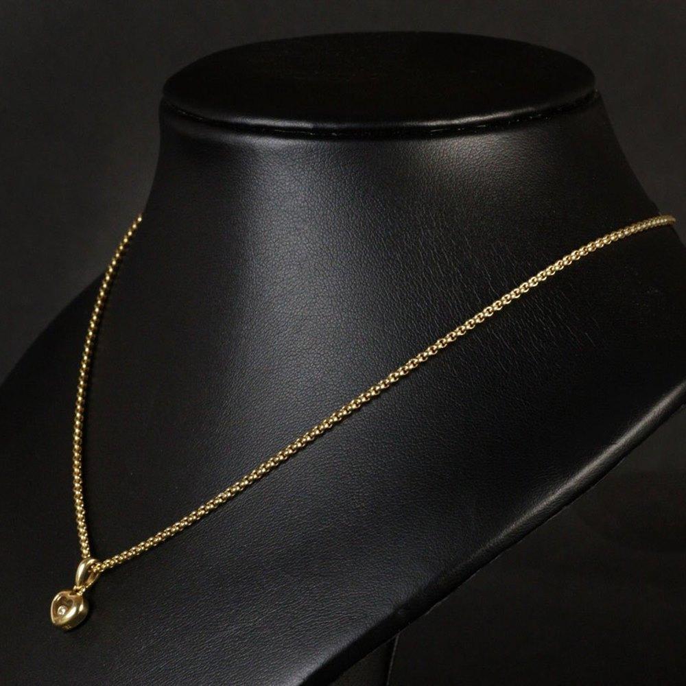 Chopard 18K Gold Happy Diamonds Heart Shaped Necklace