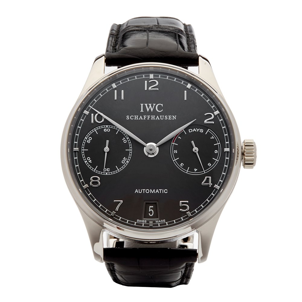 IWC Portuguese 7 Day 18k White Gold IW500106