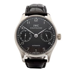 IWC Portuguese 7 Day 18k White Gold - IW500106