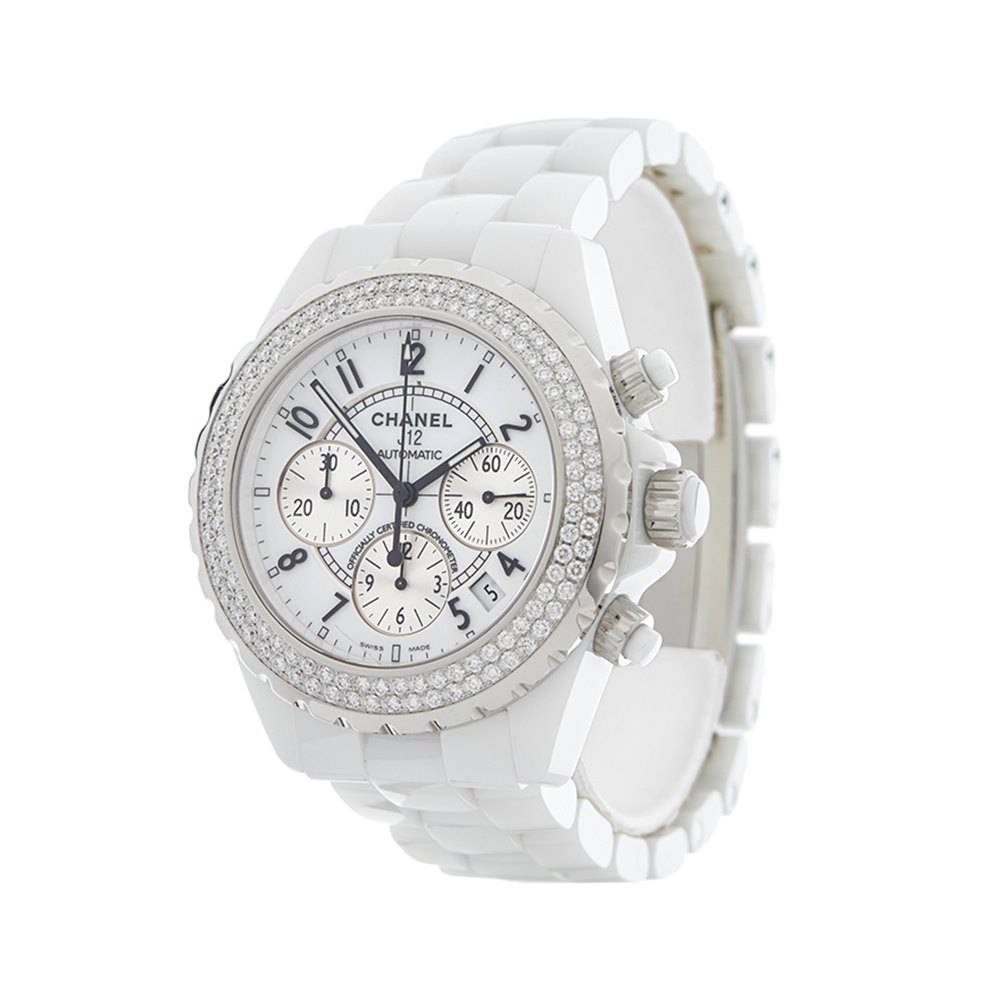 Chanel J12 Diamond Chronograph Ceramic 1008