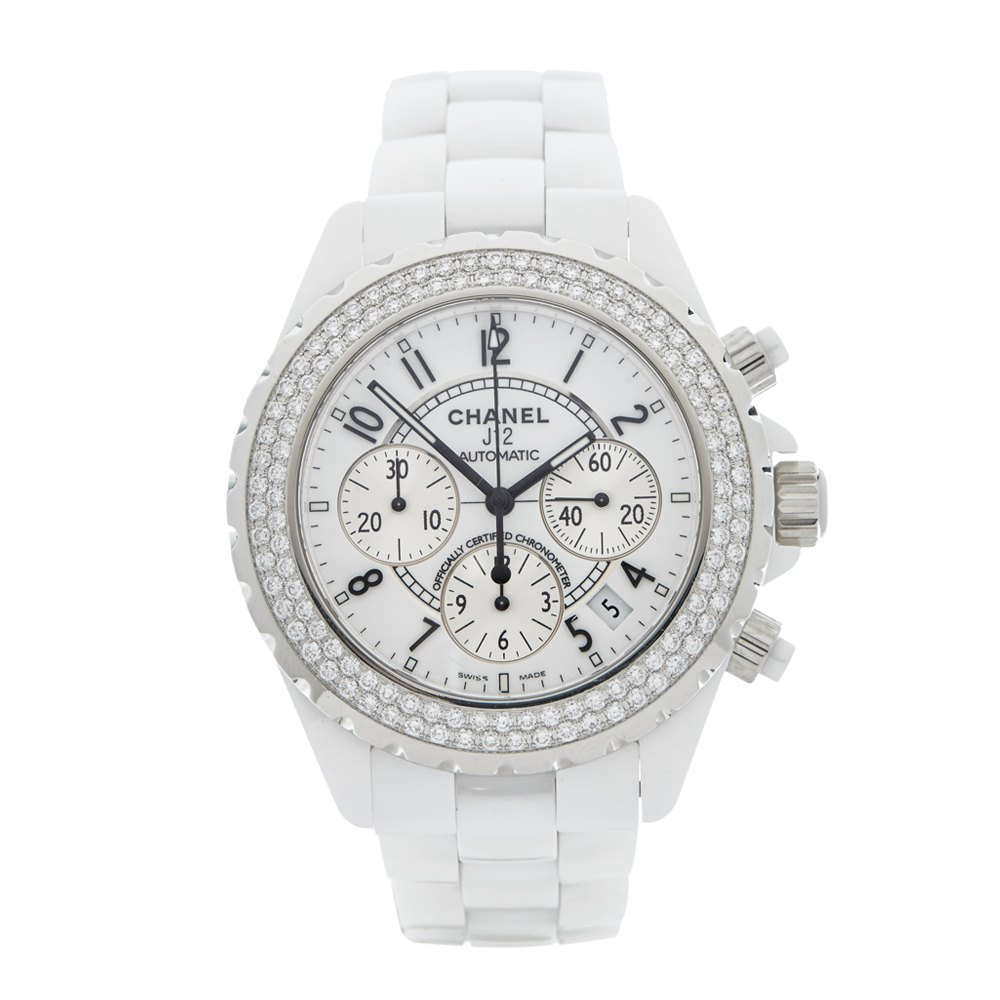 mens white watch watches s men chanel chronograph