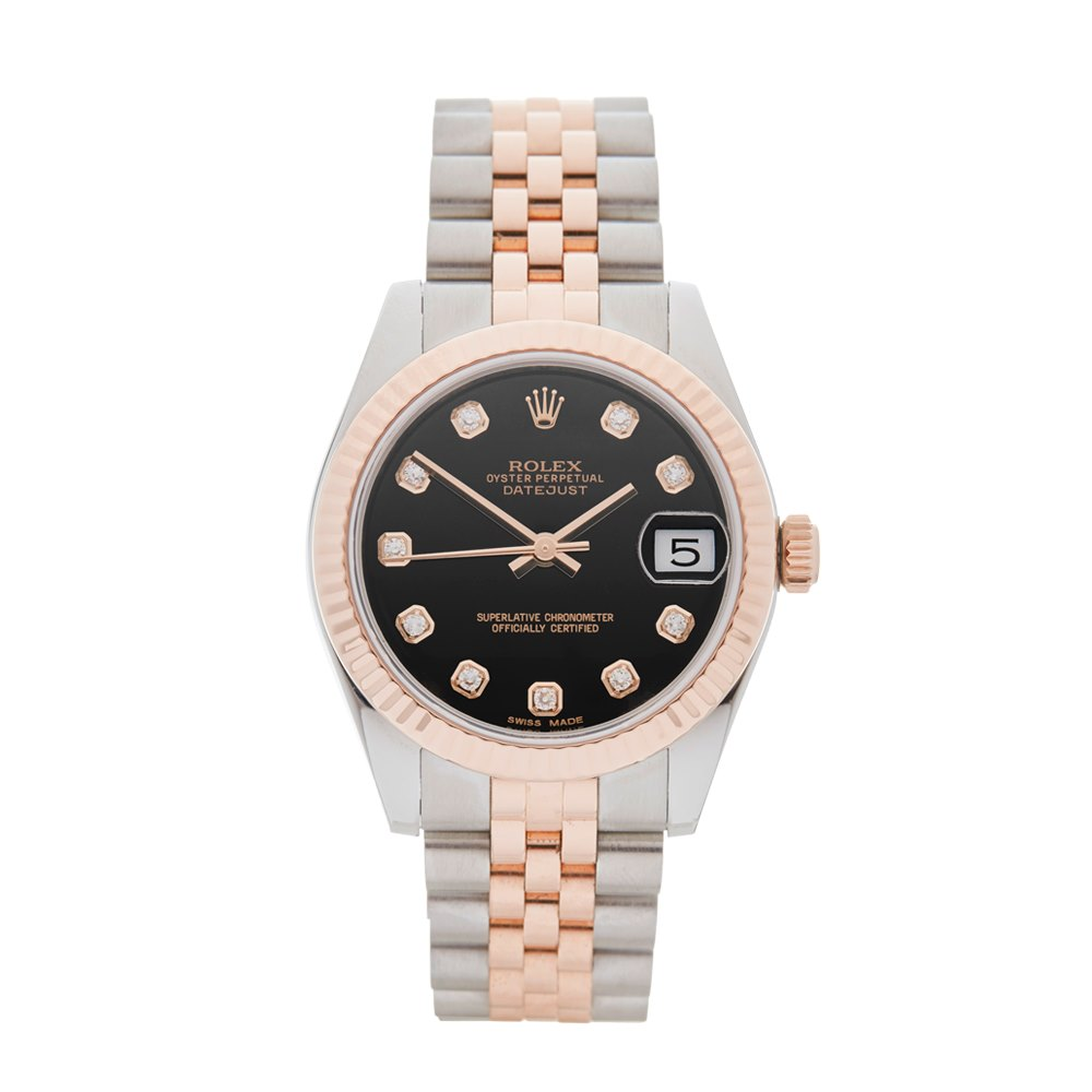 Datejust Stainless Steel 18k Rose Gold 178271