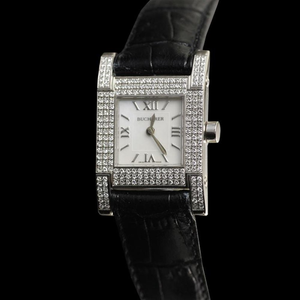 Bucherer Pathos 18k white gold set with 192 diamonds