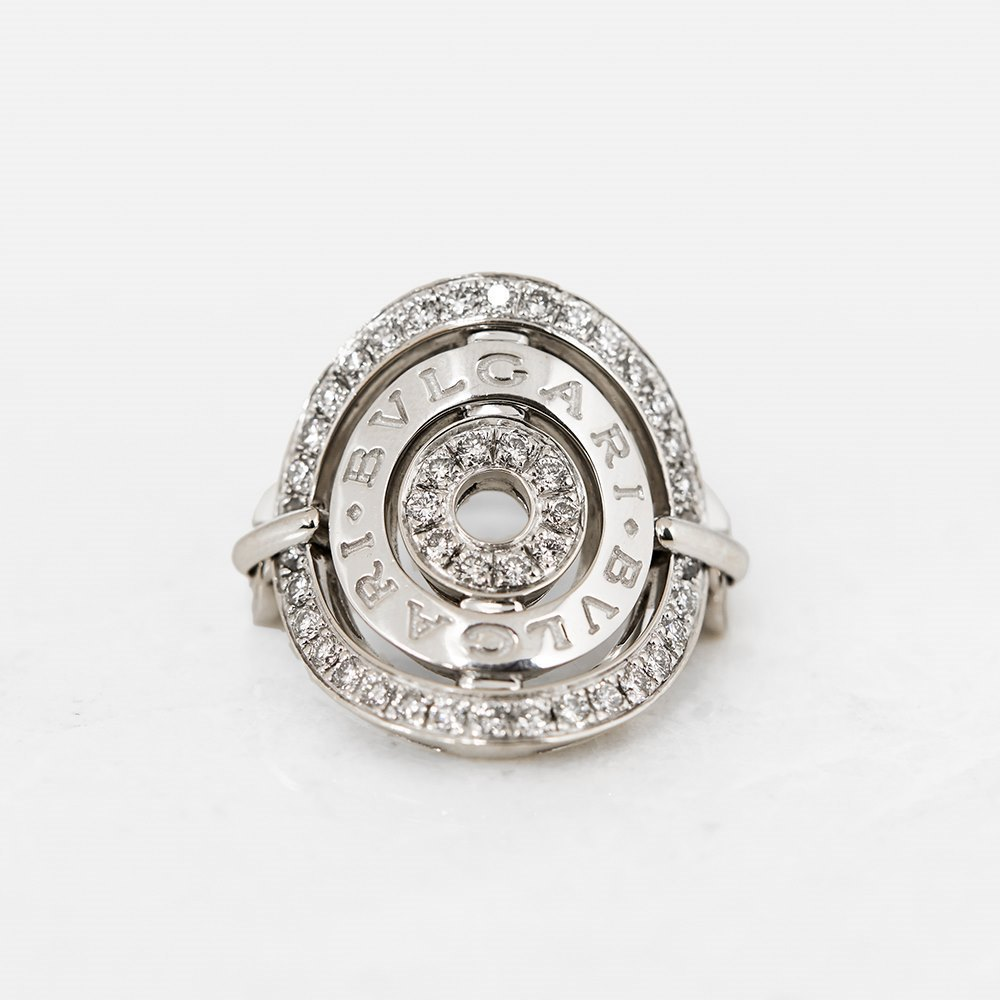 Bulgari 18k White Gold Diamond Cerchi Ring