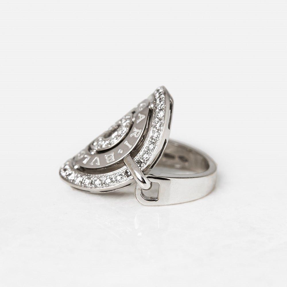 Bulgari 18k White Gold Diamond Cerchi Ring