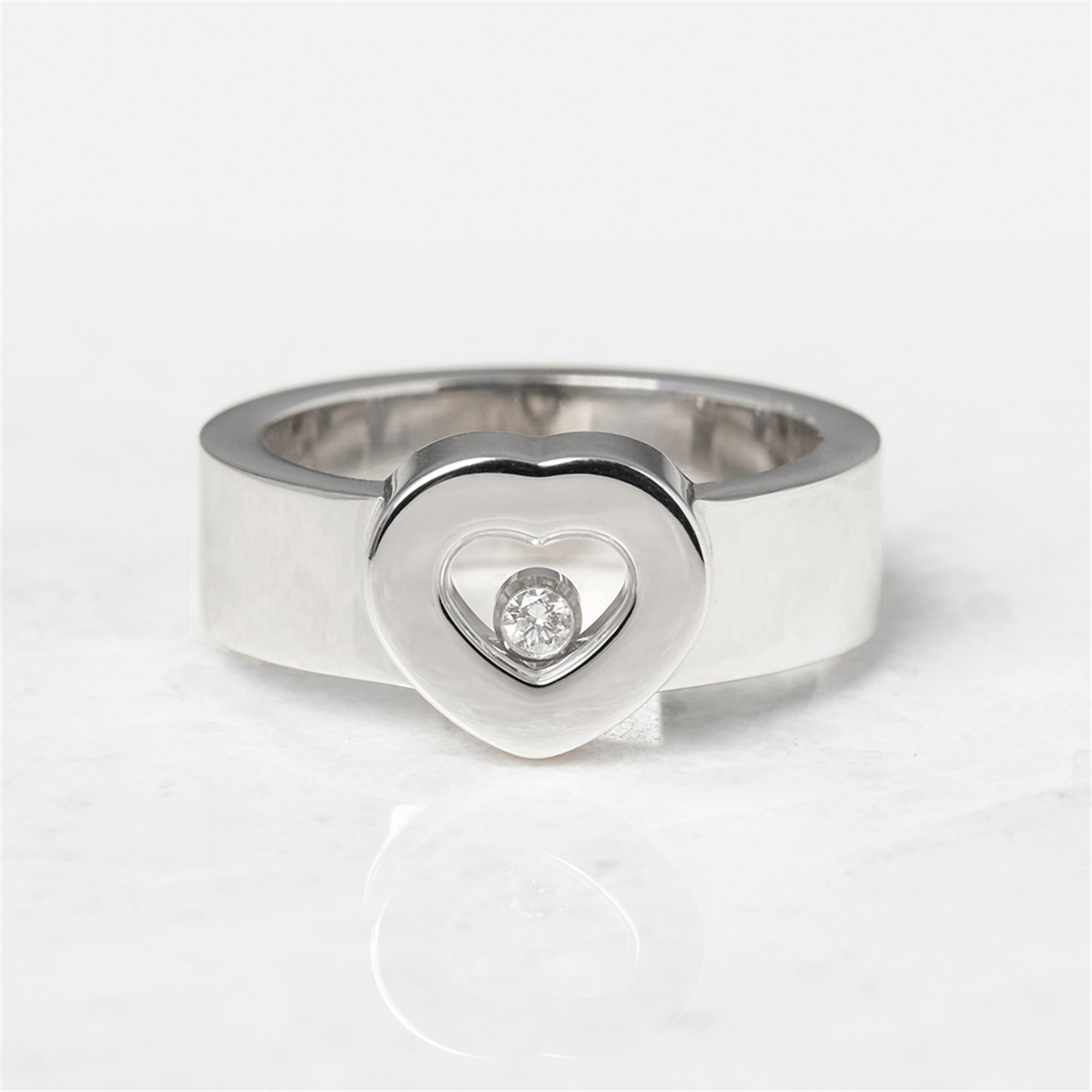 Chopard 18k White Gold Heart Happy Diamonds Ring