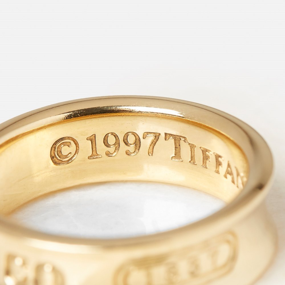 Tiffany & Co. 18k Yellow Gold Tiffany 1837 Ring