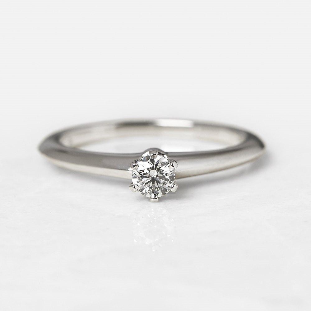 4a35bb72b Tiffany & Co. Platinum 0.20ct Diamond Engagement Ring COM1153 ...