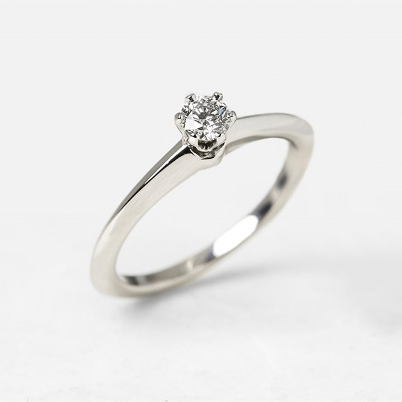 Tiffany & Co. Platinum 0.20ct Diamond Engagement Ring
