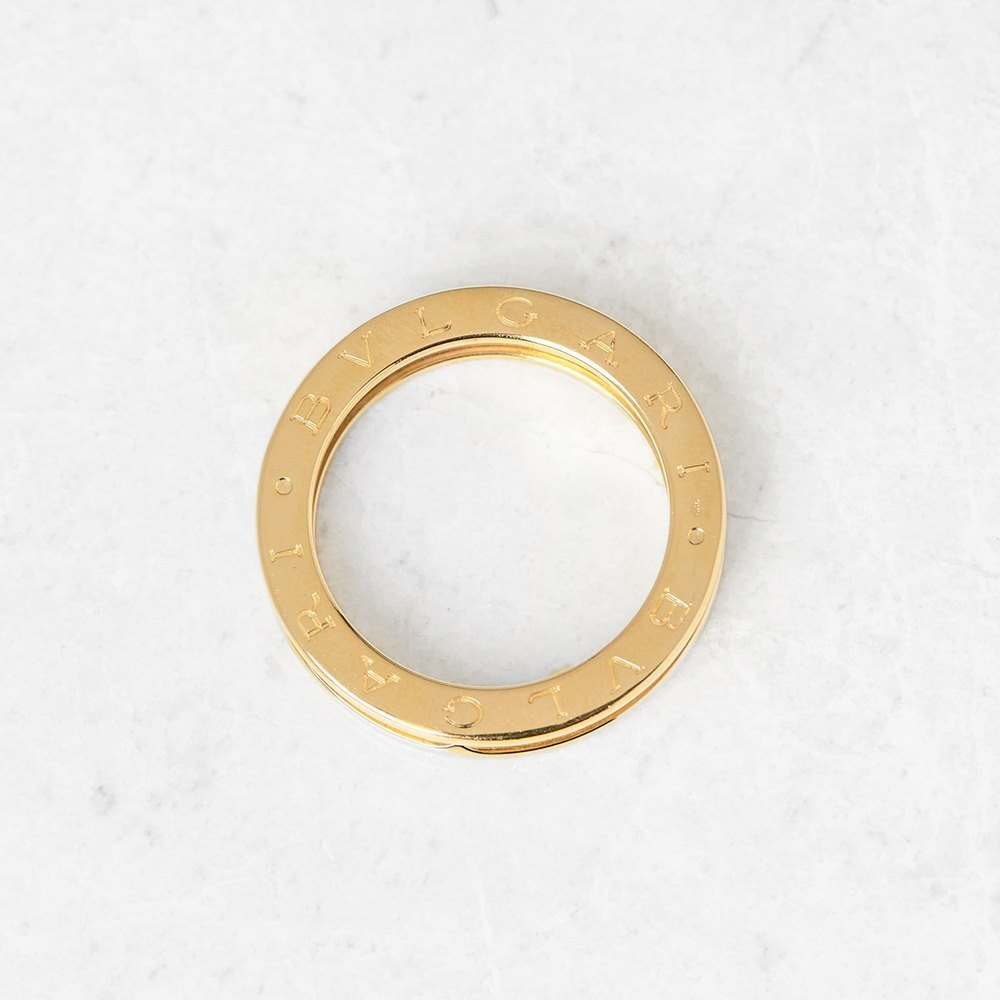 Bulgari 18k Yellow Gold 1 Band B.Zero 1 Ring Size P