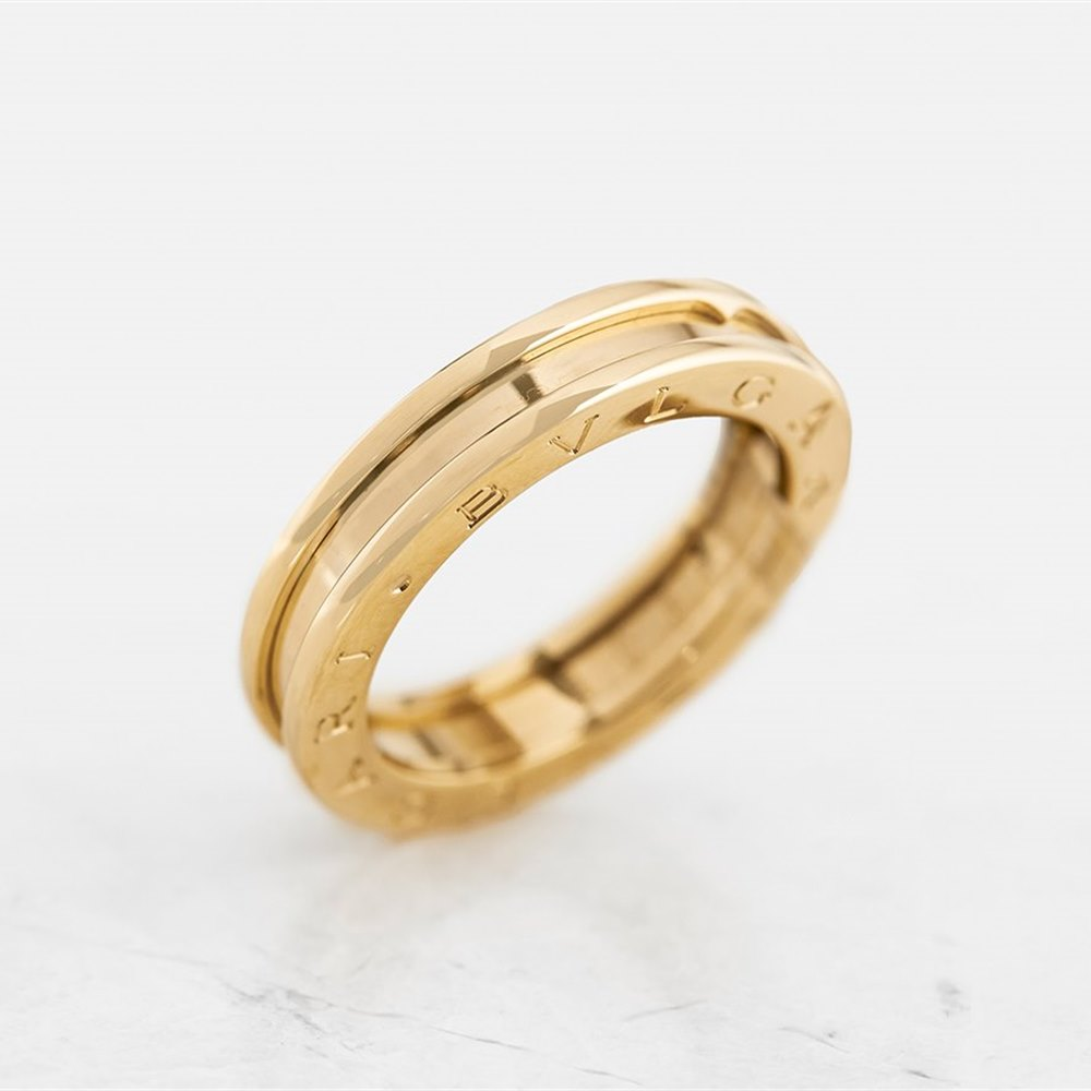 f30e3d2e65aea Bulgari 18k Yellow Gold 1 Band B.Zero 1 Ring Size P COM1154 | Second ...