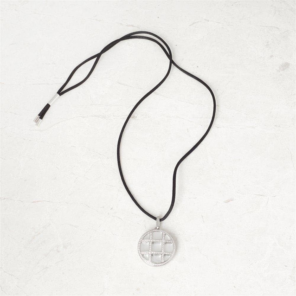 Cartier 18k White Gold Diamond Grid Pasha Necklace