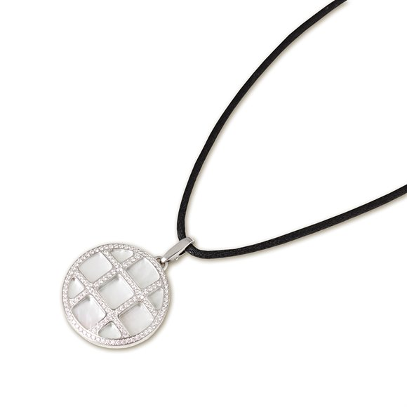 Cartier 18k White Gold Diamond Grid Pasha Necklace