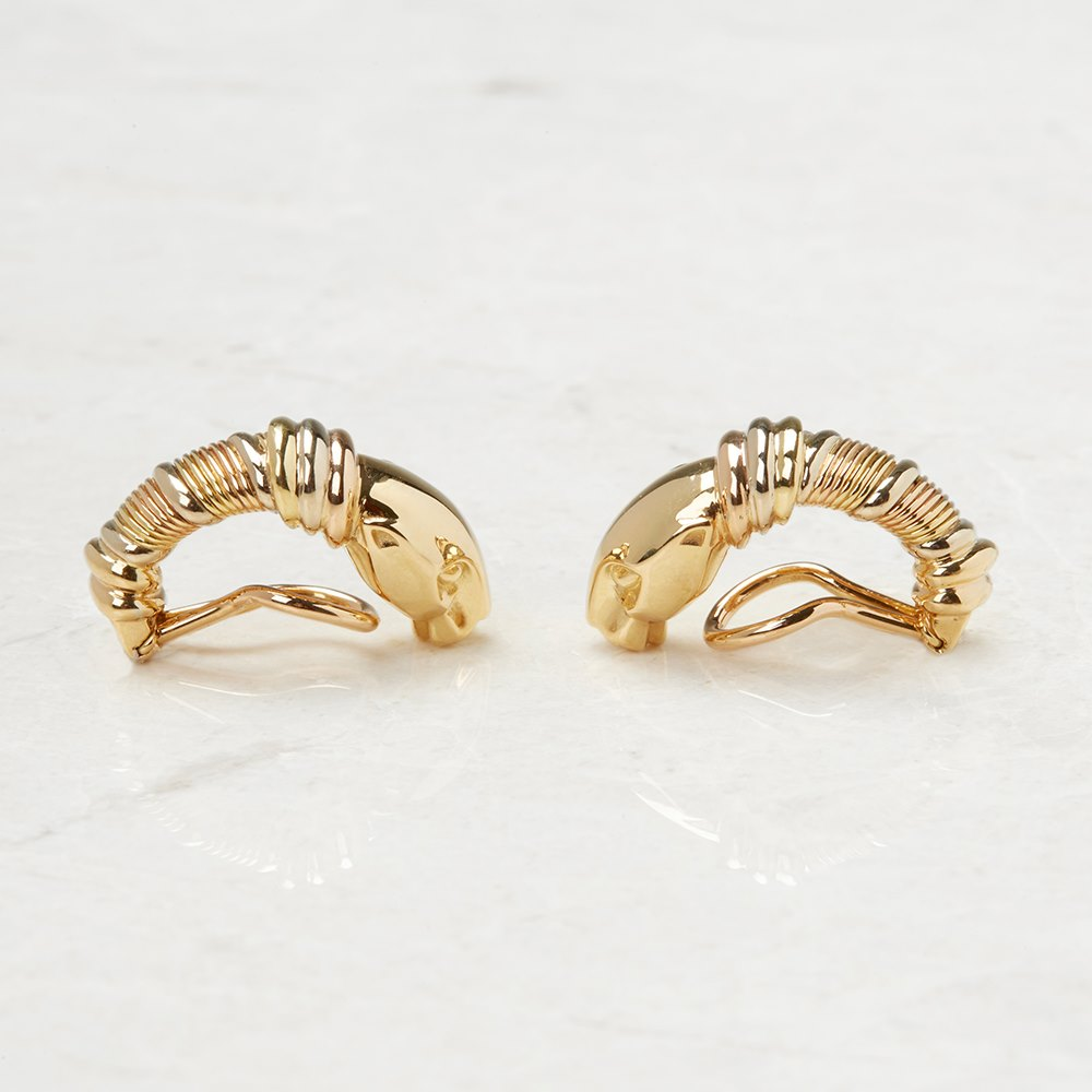 Cartier 18k Yellow Gold Clip-On Panthère Earrings