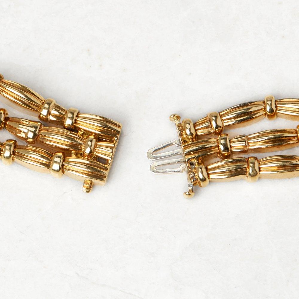Tiffany & Co. 18k Yellow Gold Diamond Vintage Three Strand Necklace