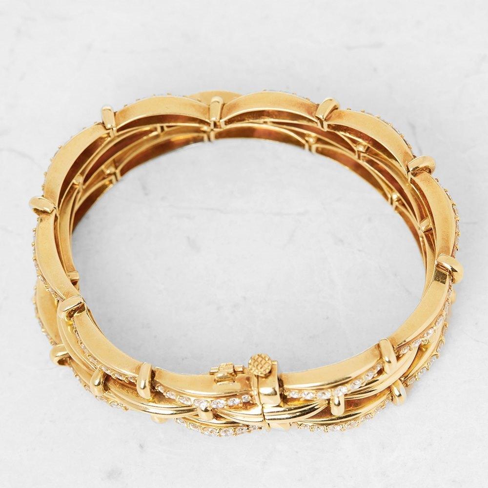 Tiffany & Co. 18k Yellow Gold Diamond Three Strand Bracelet