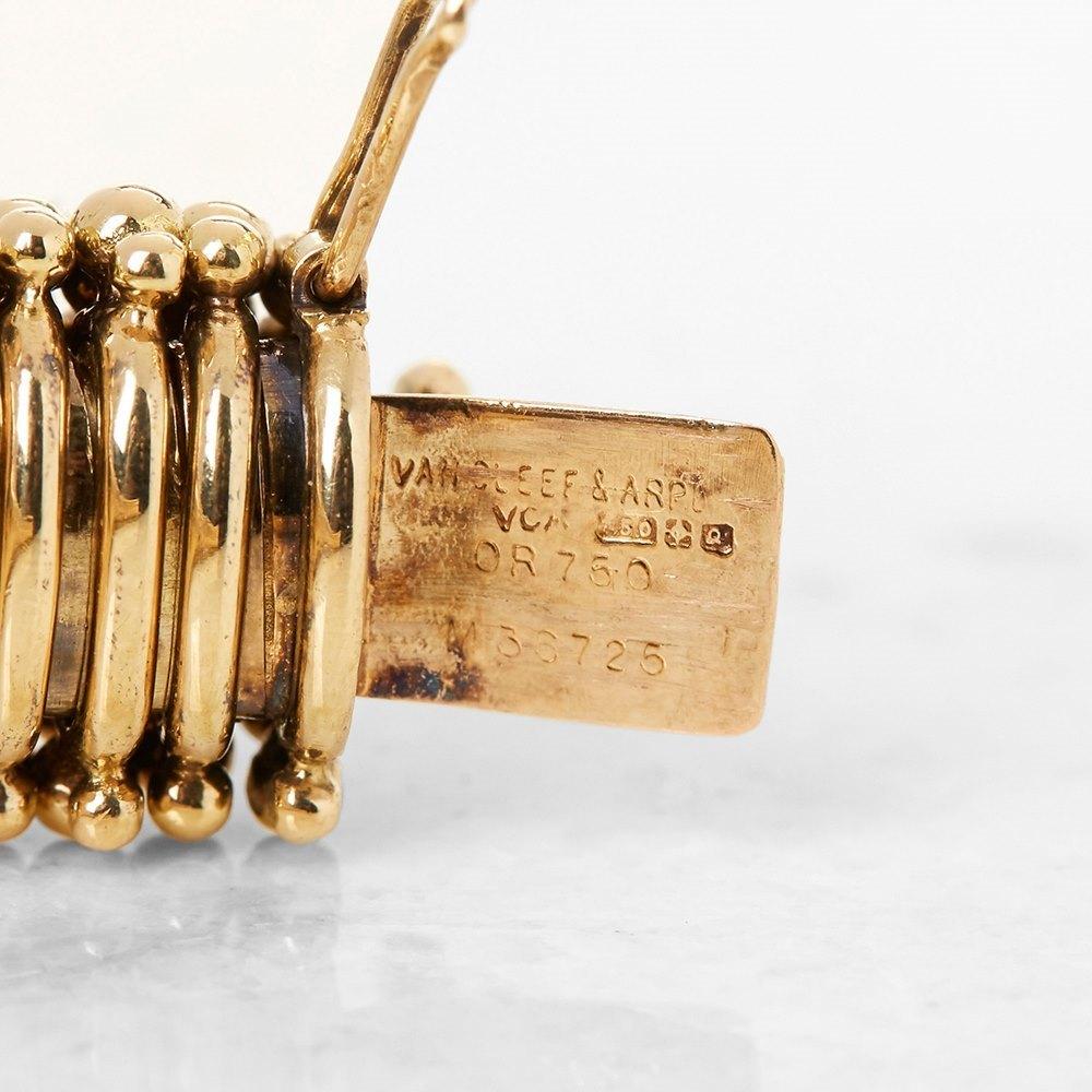 Van Cleef & Arpels 18k Yellow Gold Ruby & Diamond Bracelet