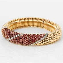 Van Cleef & Arpels 18k Yellow Gold Ruby & Diamond Bracelet