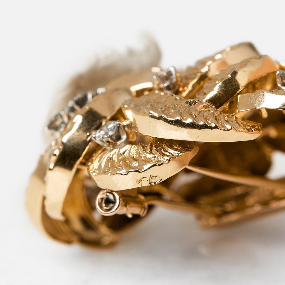 Boucheron 18k Yellow Gold Diamond Brooch
