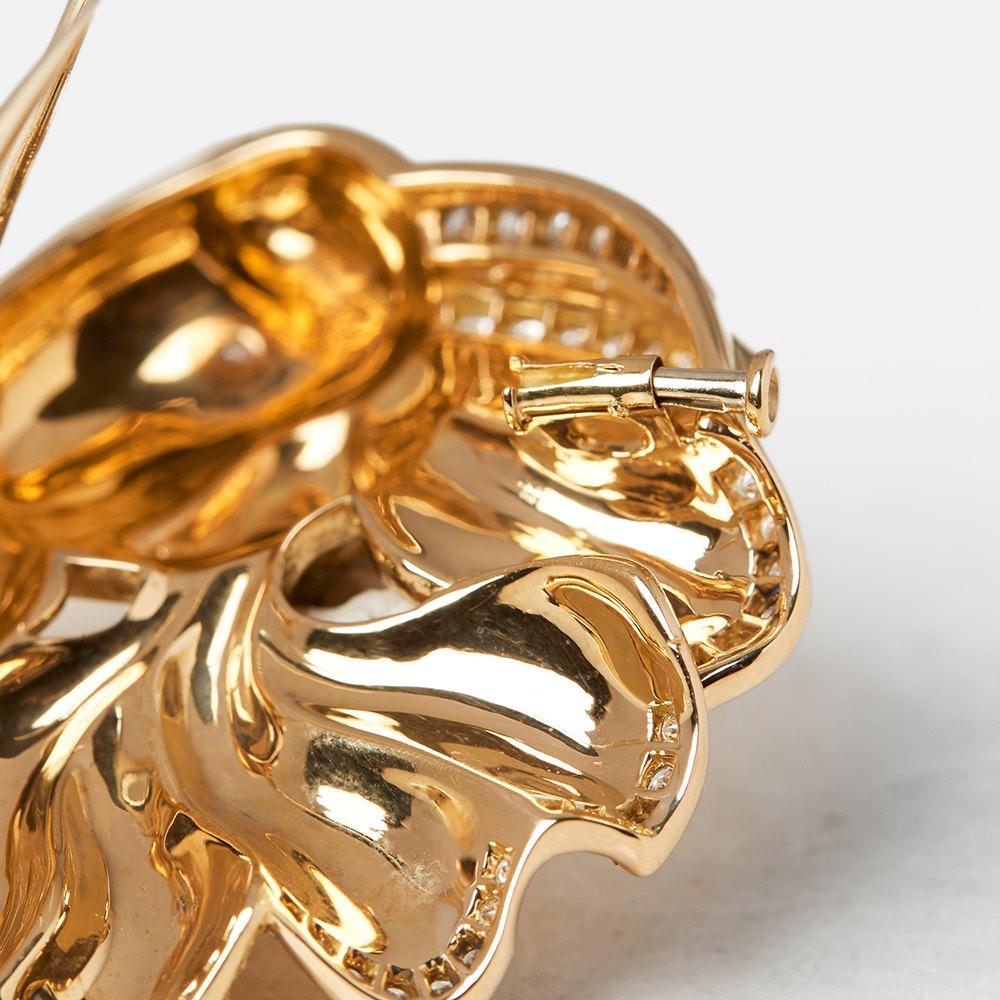 Van Cleef & Arpels 18k Yellow Gold Diamond Vintage Fish Design Brooch