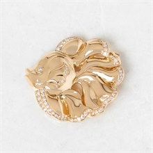 Van Cleef & Arpels 18k Yellow Gold Diamond Fish Brooch