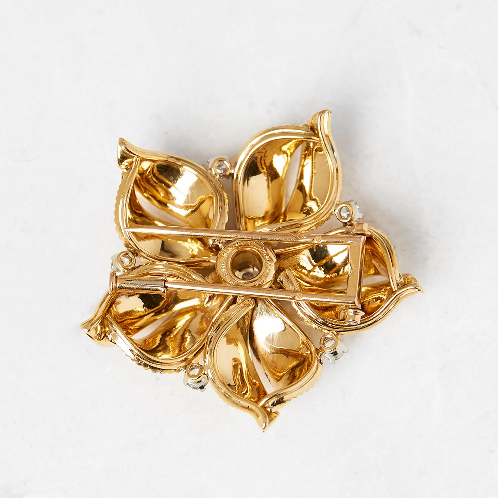 lis itm cartier brooch vs fleur gold vintage large de rare s diamond